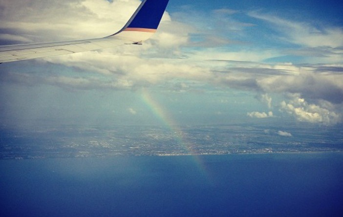 Picture out my plane window on my trip to Florida in July 2013.